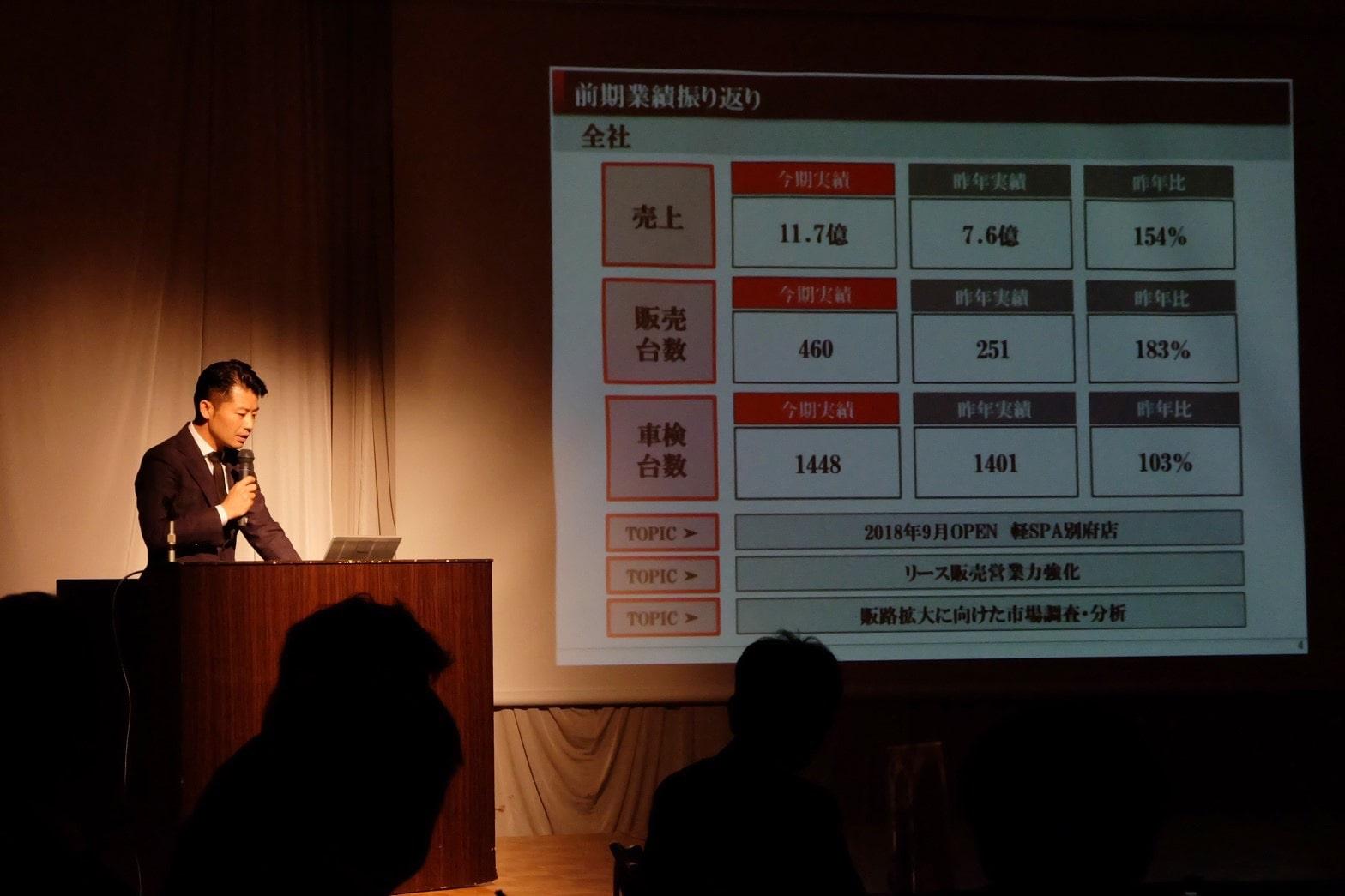 小野自動車工場、第一回社員総会の模様1